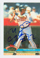 Milt Cuyler AUTOGRAPH 1991 Topps Stadium Club Tigers 