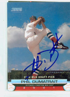 Phil Dumatrait AUTOGRAPH 2000 Topps Stadium Club Draft Pick Red Sox 