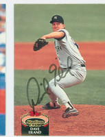 Dave Eiland AUTOGRAPH 1992 Topps Stadium Club Yankees 