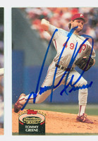 Tommy Greene AUTOGRAPH 1992 Topps Stadium Club Phillies 