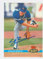 Shawn Boskie AUTOGRAPH 1991 Topps Stadium Club Cubs 