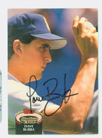 Dave Burba AUTOGRAPH 1992 Topps Stadium Club Mariners 