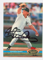 Chuck Cary AUTOGRAPH 1991 Topps Stadium Club Yankees 