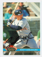 Scott Coolbaugh AUTOGRAPH 1991 Topps Stadium Club Padres 