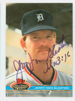 Jerry Don Gleaton AUTOGRAPH 1991 Topps Stadium Club Tigers 