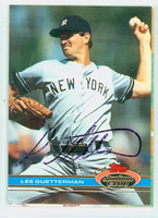 Lee Guetterman AUTOGRAPH 1991 Topps Stadium Club Yankees 