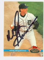Mike Henneman AUTOGRAPH 1991 Topps Stadium Club Tigers 