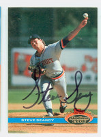 Steve Searcy AUTOGRAPH 1991 Topps Stadium Club Tigers 