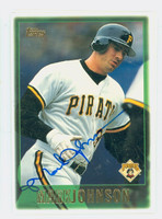 Mark Johnson AUTOGRAPH 1997 Topps Pirates 