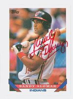 Sandy Alomar Jr AUTOGRAPH 1993 Topps Indians 