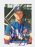 Sean Berry AUTOGRAPH 1993 Topps Expos 