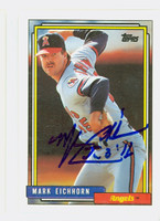 Mark Eichhorn AUTOGRAPH 1992 Topps Angels 