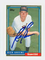 Rick Greene AUTOGRAPH 1992 Topps USA 