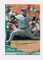 Chris Hammond AUTOGRAPH 1994 Topps Marlins 