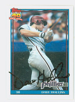 Dave Hollins AUTOGRAPH 1991 Topps Phillies 