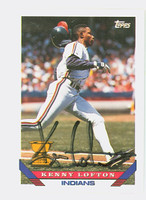 Kenny Lofton AUTOGRAPH 1993 Topps Indians 