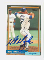Mike Magnante AUTOGRAPH 1992 Topps Royals 