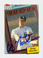 Greg Norton AUTOGRAPH 1994 Topps Draft Pick White Sox 