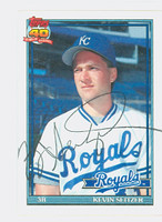 Kevin Seitzer AUTOGRAPH 1991 Topps Royals 
