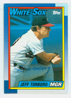 Jeff Torborg AUTOGRAPH 1990 Topps White Sox 