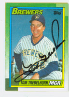 Tom Trebelhorn AUTOGRAPH 1990 Topps Brewers 