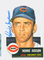 Howie Judson AUTOGRAPH Topps 1953 Archives Reds 