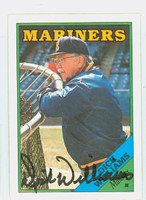 Dick Williams AUTOGRAPH d.11 1988 Topps Mariners 