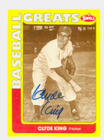 Clyde King AUTOGRAPH d.10 Swell Dodgers 