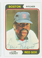 Luis Tiant AUTOGRAPH 1974 Topps #167 Red Sox 