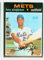 1971 Topps Baseball 16 Ken Singleton ROOKIE New York Mets Excellent