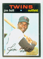 1971 Topps Baseball 7 Jim Holt Minnesota Twins Excellent to Excellent Plus