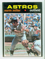 1971 Topps Baseball 18 Norm Miller Houston Astros Excellent to Excellent Plus