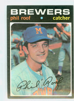 1971 Topps Baseball 22 Phil Roof Milwaukee Brewers Excellent to Excellent Plus