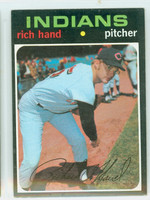 1971 Topps Baseball 24 Rich Hand Cleveland Indians Excellent to Excellent Plus