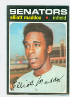 1971 Topps Baseball 11 Elliott Maddox Washington Senators Excellent to Mint