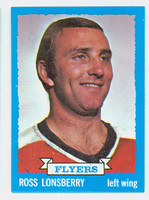 1973-74 Topps Hockey Ross Lonsberry Philadelphia Flyers Near-Mint to Mint