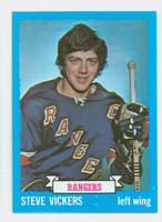 1973-74 Topps Hockey Steve Vickers New York Rangers Near-Mint to Mint