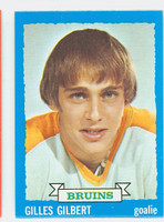 1973-74 Topps Hockey Gilles Gilbert ROOKIE Boston Bruins Near-Mint
