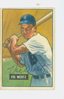 Vic Wertz AUTOGRAPH d.83 1951 Bowman #176 Tigers CARD IS VG