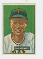 Bob Dillinger AUTOGRAPH d.09 1951 Bowman #63 Pirates CARD IS VG