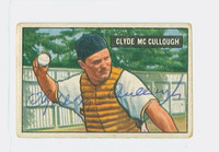 Clyde McCullough AUTOGRAPH d.82 1951 Bowman #94 Pirates CARD IS F/G