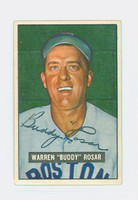 Buddy Rosar AUTOGRAPH d.94 1951 Bowman #236 Red Sox CARD IS EX