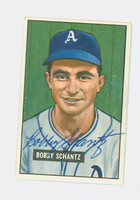 Bobby Shantz AUTOGRAPH 1951 Bowman #227 Athletics CARD IS EX