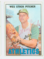 Wes Stock AUTOGRAPH 1967 Topps #74 Athletics   [SKU:StocW1799_T67BB]
