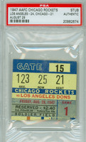 1947 Chicago Rockets Ticket Stub vs Los Angeles Dons  - Rams 24-21  August 29, 1947 PSA/DNA Authentic Slabbed