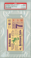 1948 Baltimore Colts Ticket Stub vs Buffalo Bills Y.A. Tittle 80 Yd TD Pass - Colts 35-15  December 5, 1948 [Y48_Colt1205S_pa_18] PSA/DNA Authentic Slabbed