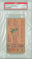 1949 Baltimore Colts Ticket Stub vs Buffalo Bills Y.A. Tittle 80 Yd TD Pass - Bills 38-14  November 27, 1949 [Y49_Colt1127S_pa_12] PSA/DNA Authentic Slabbed