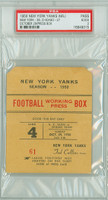 1950 New York Yankees Press Pass vs Chicago Bears  - Yanks 38-27  October 29, 1950 Good