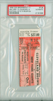 1959 Cleveland Browns Ticket Stub vs New York Giants Bobby Mitchell 33 Yd TD - Giants 10-6  October 11, 1959 PSA/DNA Authentic Slabbed
