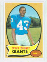 1970 Topps Football 17 Spider Lockhart New York Giants Near-Mint